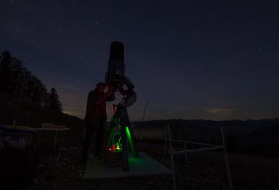 Sternwarte aufgebaut