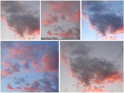 Feuer und Glut am Himmel
