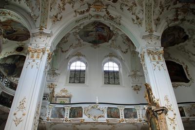 Das Innere der Klosterkirche Andechs 02