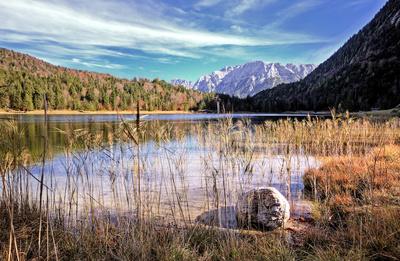 Ferchensee und Karwendel