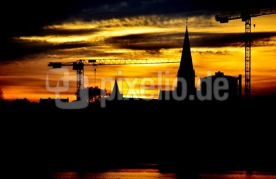 Sonnenuntergang in Bad Hörde
