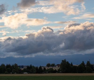 Eine Wolkenwalze...