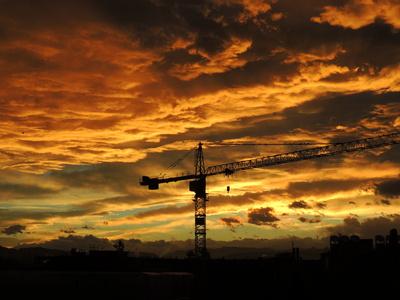 Sonnenaufgang über Bern
