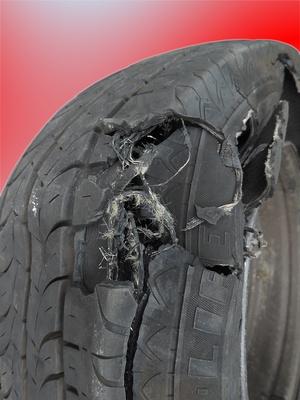 Panne, Geplatzer Reifen