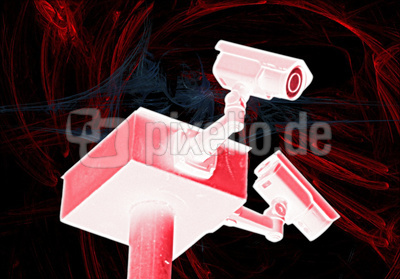 Doppelte Überwachungskameras