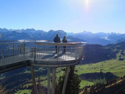 Alpensicht auf dem View Point