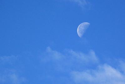 Mond am hellen Morgen