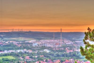 Sonnenuntergang über Jena Winzerla