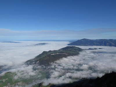 Nebeldecke über der Zentralschweiz