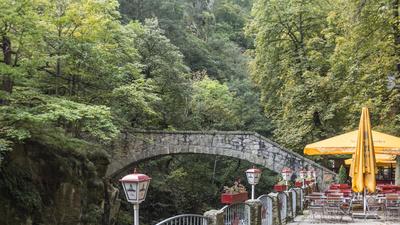 Die Jungfernbrücke im Bodetal bei Thale