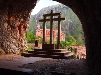 Blick auf das Kloster von Covadonga