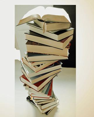 Bücherstapel .