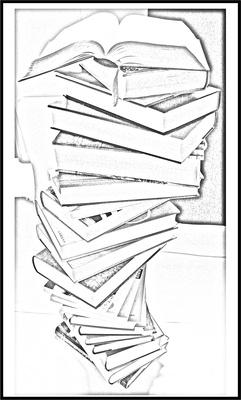 Bücherstapel ..