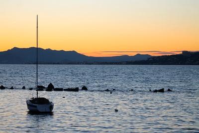 Sonnenuntergang am Cap d'Antibes