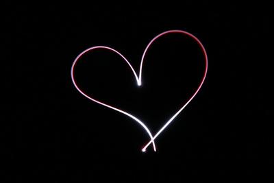 Herz aus Licht