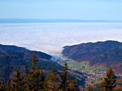 Der Nebel zieht ins Tal
