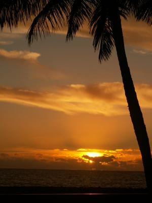 Sonneuntergang in Puerto de Tazacorte