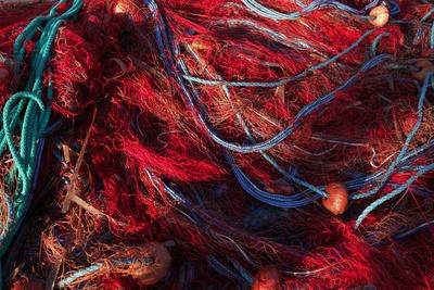 Bunte Fischernetze