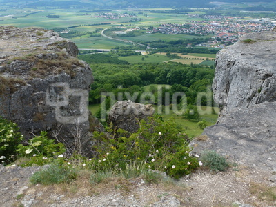Blick vom Staffelberg - dem heiligen Berg der Franken - hinab ins Tal