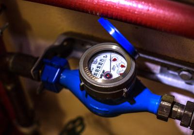 Wasserzähler-Uhr
