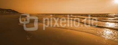 Sylter Strand im Abendlicht