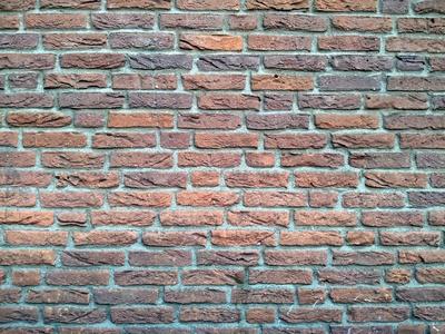 Backstein-Mauer