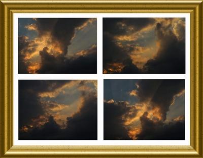 Goldig-schwarze Abendwolken.