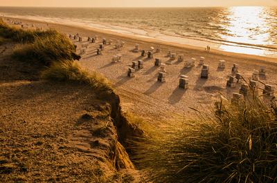 Leerer Strand am Roten Kliff, Sylt