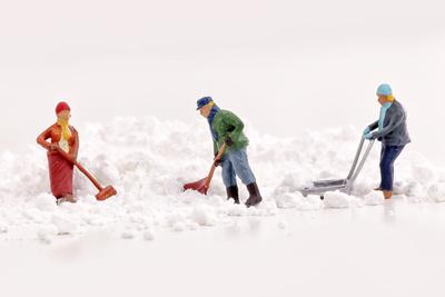 Schnee schippen
