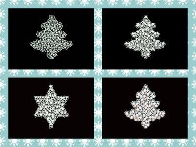 Weihnachtskarte,  ornamental