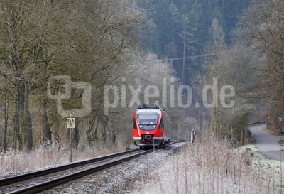 Cool morning, cool train