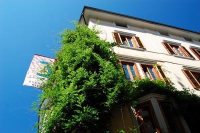 Bozen, mediterrane Fassade