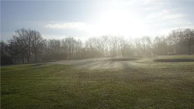 Golfplatz im Winter