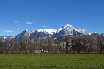 Sicht in die Österreicher Alpen