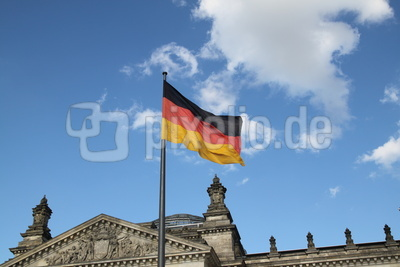 Flagge überm dem Plenarsaal