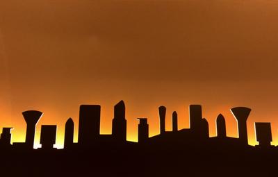 City-Silhouette abstrakt