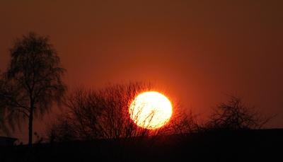 Sunset bei minus 8 Grad