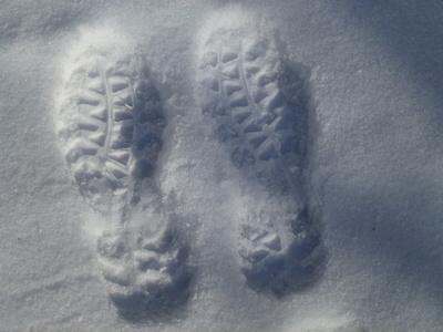Abdrücke im Schnee