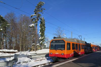 Üetlibergbahn auf Bergstation