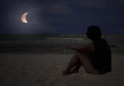 Nachts am Strand