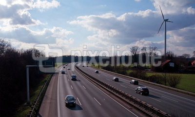 Autobahn Highway Februar 2015