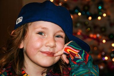 Mädchen mit Kappe