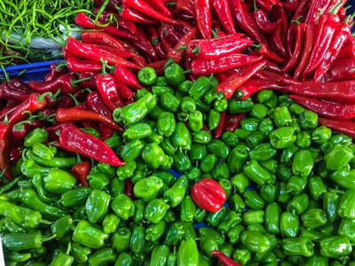 Gemüsepracht auf dem Markt