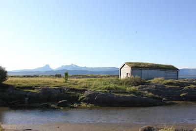 Altes Bootshaus an der Küste