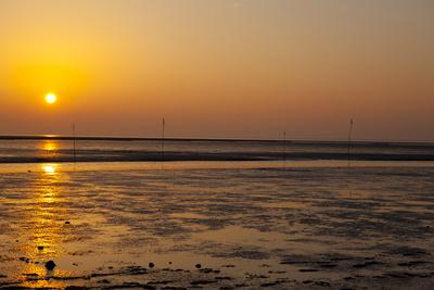 Sonnenuntergang am Wattenmeer 2