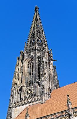 Der Kirchturm von St. Lamberti , . . . . .