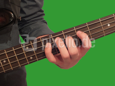 Spiel auf dem E-Bass