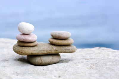 Steinchen in Balance