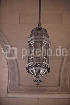 Ein Leuchter der Sultan Qaboos Mosche