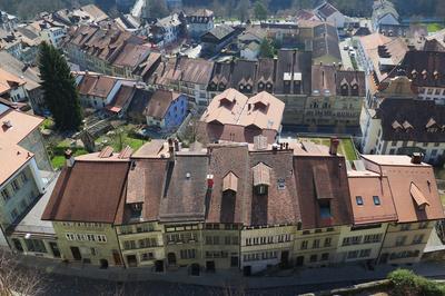 Dächer-Parade von Fribourg